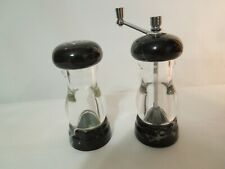 Olde Thompson Lucite & Marble Salt Shaker & Pepper Grinder Set