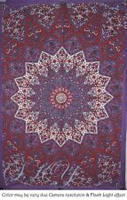 INDIAN STAR MANDALA ROUND PSYCHEDELIC TAPESTRY CEILING TWIN PURPLE BEDDING SB8 M