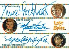 The Complete Lost in Space Triple Autograph / Auto Lockhart, Kristen, Cartwright