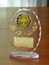 "Academic/Lamp of Knowledge/Teacher 6 1/2"" Acrylic Award Trophy FREE engraving"