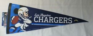 Los Angeles Chargers Mickey Mouse NFL Football Pennant