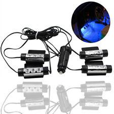 4 X DC 12V 3 LED Blue Car Interior Atmosphere Light Decor Lamp Cigarette Sales