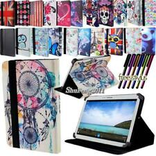 """For 7"""" 8"""" 10"""" Samsung Galaxy Tab 2 3 4 FOLIO LEATHER STAND Cover  + Stylus"""