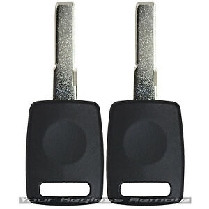 Transponder Ignition Key For Audi TT Q5 Q7 A4 S4 A3 A6 HU66AT6 Pair Uncut Blade