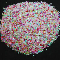 KM_ KF_ Colorful Mixed Shape Party Wedding Confetti DIY Glitter Nail Art Decor