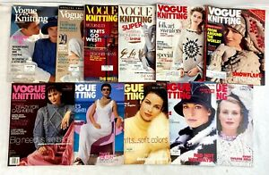 Lot of 11 Various Issues Vintage Vogue Knitting Magazines 1990-1999 1990s Craft