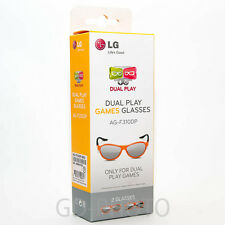 NEW LG Dual Play Games Glasses AG-F310DP (2 Glasses in Box) for LG Cinema 3D TV