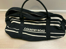 Genuine Country Road Black Duffle Bag Gym Sports Leisure Holiday As pictured
