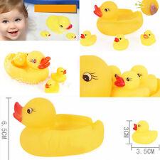 Duck toy 4Pcs/ Baby Kid Cute Bath Rubber Ducks Children Squeaky Ducky Water Play