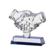 Fair Play Crystal Handshake Trophies Awards 120mm FREE Engraving