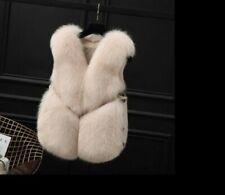 Cappotti, giacche e gilet da donna beige pelliccia