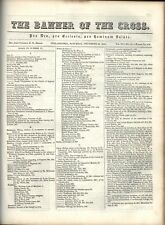 THE BANNER OF THE CROSS - 1842-1843 PROTESTANT EPISCOPAL PERIODICAL/NEWSPAPER
