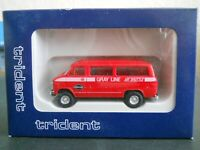 Ho scale 1/87 NEW TRIDENT Airport Shuttle Van Chevy Truck bus CMW athearn