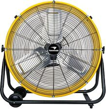 Industrial Shop Fan Drum Heavy Duty Rolling Factory Floor Garage Barn Commercial