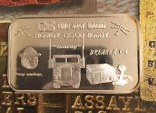 ISIC-34 CB TWO WAY RADIO RARE 999 SILVER ART BAR 1 Troy oz Collectable