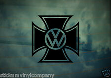 VW Iron Cross Car Sticker/Decal *Dubs*German*Volkswagen*VAG*Euro*VDUB*DubLuv*