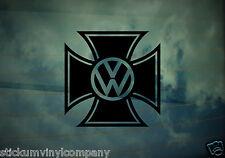 VW Iron Cross Car Sticker/Decal *Dubs*German*Volkswagen*VAG*Euro*VDUB*DubLuv*