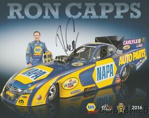 2016 Ron Capps signed Napa Auto Parts Dodge Charger Funny Car NHRA postcard