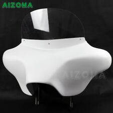 Detachable Batwing Windshield 6X9 Stereo Set up Fairing For Harley Road King FLH