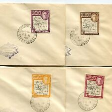 Falkland Islands Dependencies 1948 King Map 4 Different First Day Covers