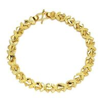 "Women's Bracelet Chain 18K Yellow Gold Filled 7"" Link Fashion Jewelry"