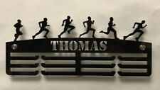 Personalised Thick 5mm Acrylic 3 Tier MALE RUNNER Medal Hanger / Holder /