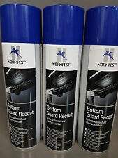 3 x Normfest Bottom Guard Unterbodenschutz 500ml Schwarz überlackierbar #