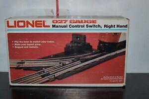 Lionel Right Hand Manual Control Switch 027 Gauge #6-5022 Original Box