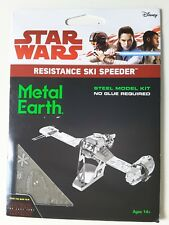 Star Wars Metal Earth The Last Jedi Resistance Ski Speeder NEW