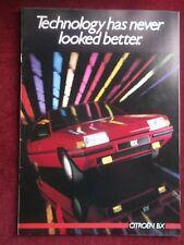 CITROEN BX 1985 Sales Brochure -'Technology has never looked better'