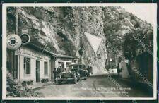 Francia Menton Mentone Frontiera Auto Foto cartolina KV5258