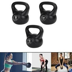 2-14kg Cast Iron Kettlebells & Dumbbell Weight Set Fitness Exercise Home Gym UK