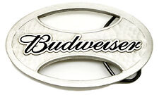 Budweiser Belt Buckle King of Beers Silver Oval Authentic Officially Licensed