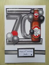 Luxury Hand-Made Male 70th Birthday Card -Can be Personalised