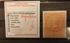 REGNO 1874 RICOGNIZIONE POSTALE 10 CENTESIMI rigommato perizia Cilio  4/17