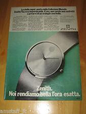 ZENITH OROLOGIO WATCH MOVADO=ANNO 1973=PUBBLICITA=ADVERTISING=