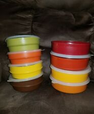 Vintage Tupperware Stackable Cereal Bowls 1356 w/ Clear Lids and 4 1405 bowls 23