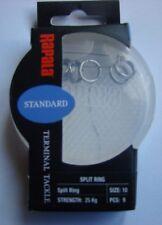 Anneaux brisés inox Rapala taille 10 en coque plastique