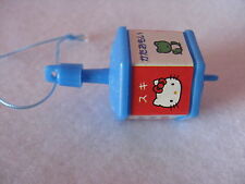 Sanrio Hello Kitty Trinket Ornament Spinning Top Blue Hexagon Vintage '76-'91