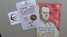 folder 2 euro 2010 fdc UNC ITALIA CAVOUR italie italien italy Италия