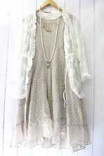 Moonshine Kleid  44 46 48 Beige Lagenlook Pünktchen Dots Sommer Neu