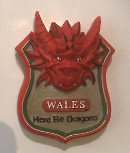 Wales DRAGON HEAD FRIDGE MAGNET