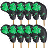 Clover Golf Iron Head Covers 10Pcs/Set Black Leather For Taylormade UK