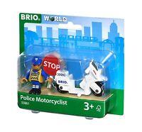 Tren De Madera Brio 33861 MOTO con Policía NUEVO - emb.orig