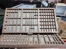 Antique Printers Hamilton, Keystone, Thomaston Type Case Tray Drawers 33x17