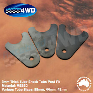 Laser Cut Weld In 3mm Thick Tube Shock Tabs Various Sizes Post Fit