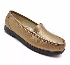 SAS TriPad Comfort Metallic Bronze Leather Slip On Moc Toe Loafers Women��s 8 WW?