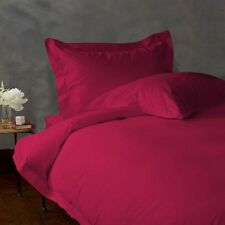 Duvet Set + Fitted Sheet Super King Size Hot Pink Solid 1000 TC Egyptian Cotton