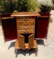 Ethan Allen Country French Jewelry Chest Cabinet 45-1024 Fruitwood Storage