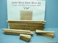Dollhouse Miniature Plank Flooring Kit (144 Sq Inches) Oak Wood 1/12th Scale